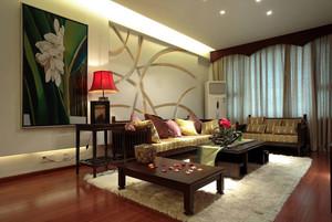 30万造高贵东南亚风格三室一厅装修效果图片欣赏