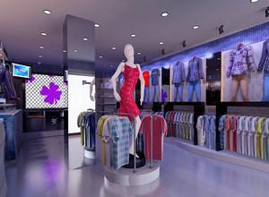 繁华马路边上:小服装店装修效果图实例鉴赏