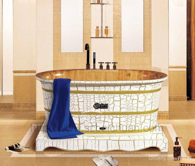 小别墅白色唯美卫浴装修效果图