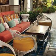 露台花园沙发效果图