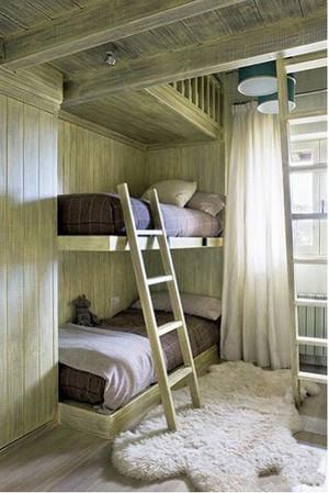 童话般的海洋:气氛活泼的儿童高低床装修效果图实例欣赏