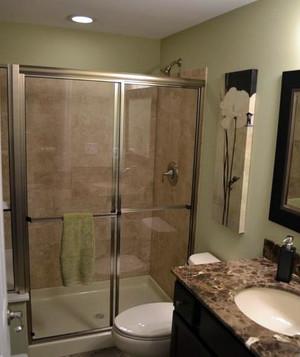 处于室内一角的舒适卫生间隔断装修效果图欣赏实例