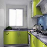 动感绿色调厨房设计