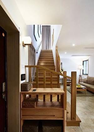 现代原木自然韵味的130平米小复式楼装修效果图