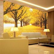枫林背景墙图片