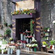 花店店外鲜花