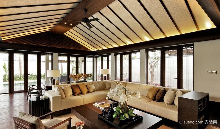不仅仅是空间大 气质独特别墅客厅装修效果图