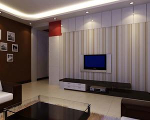 流光溢彩:大户型客厅抛光砖电视背景墙装修效果图鉴赏