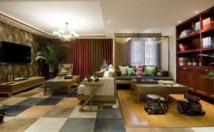 2015充满自然气息的东南亚风格两室一厅装修图片