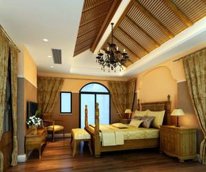 专为成功人士打造的别墅卧室装修效果图