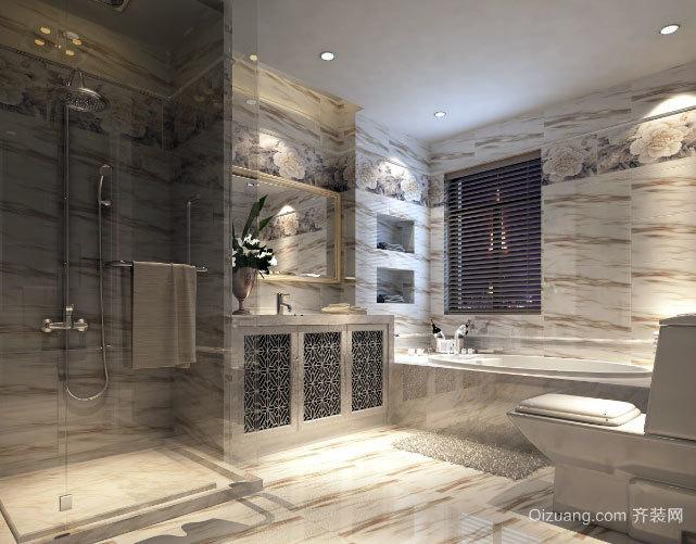 卫生间也精致:20平米纯白色简约奢华的卫生间装修效果图