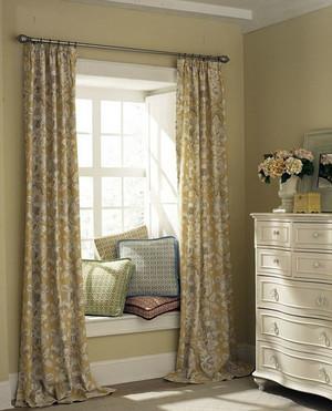 淡雅风格窗帘设计