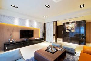 160平米时尚与温馨并存的大户型美式房屋装修效果图