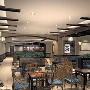 浪漫型餐厅设计
