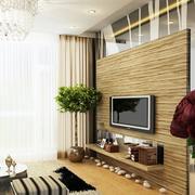 单身公寓电视背景墙