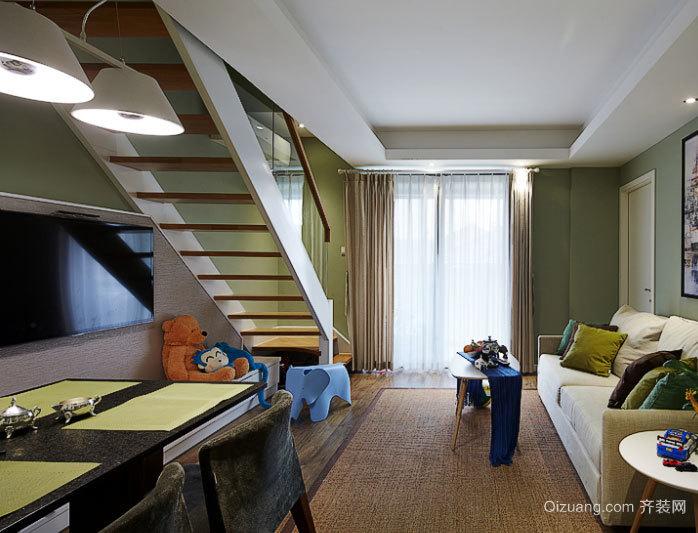 100平米现代含蓄简约而不乏精致的三室一厅装修效果图