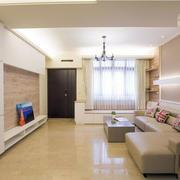 120平米房屋客厅电视背景墙