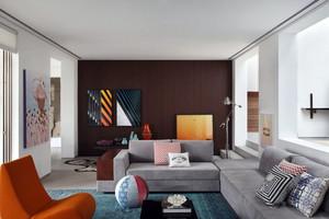 80平米小户型纯色基底打造简约爱家一室装修设计