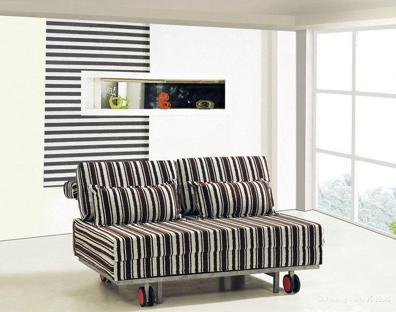 精致时尚多功能客厅双人沙发床装修效果图鉴赏