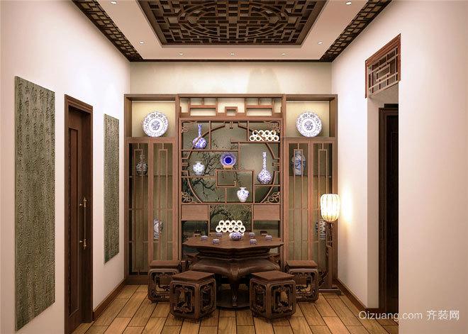 160平米中式混搭风格深沉高贵的别墅装修效果图