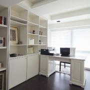 现代简约风格书房置物架装饰