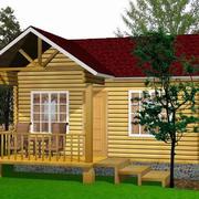 深色调小木屋效果图
