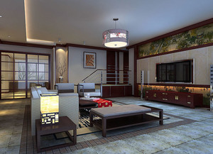 沉稳有度:大户型中式客厅装修效果图欣赏大全