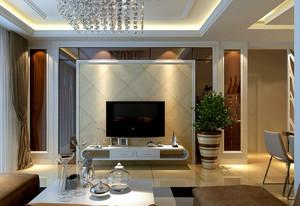 2015时尚大方客厅液体壁纸电视背景墙装修效果图