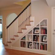 美式斜顶别墅楼梯效果图