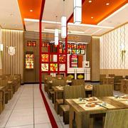 中式快餐店桌椅装修