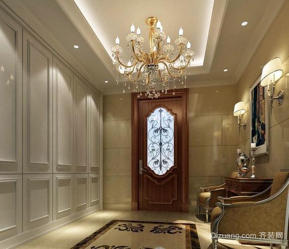 三室一厅欧式玄关设计装修效果图