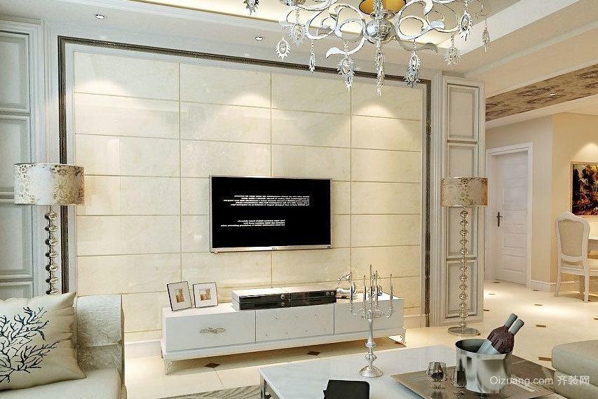 静谧恬美:现代简约客厅电视背景墙装修效果图鉴赏