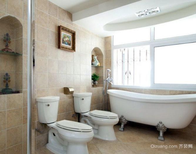 30平米韩式清新洁美小卫生间装修效果图