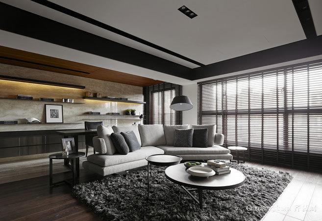 150平米宁静淡雅的后现代风格两居室公寓装修效果图
