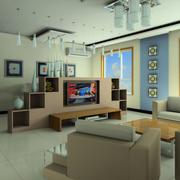 清新风格电视背景墙