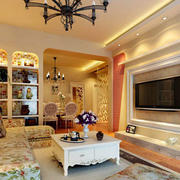 温馨色调客厅装修