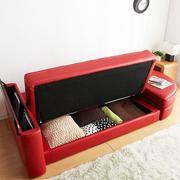 红色调沙发图片