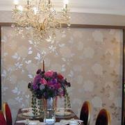 跃层精美餐厅背景墙