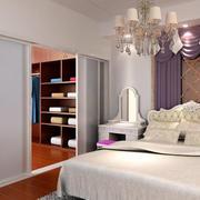 现代创意卧室门
