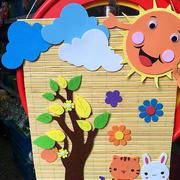 童真色彩教室墙面