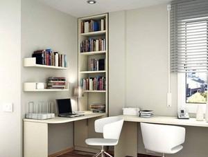 白色系列书房设计