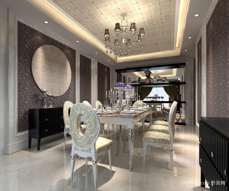 不只是用餐:优雅高贵的餐厅吊顶装修效果图鉴赏