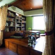 书架旁地台效果图