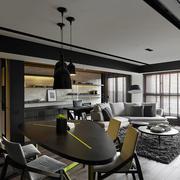 灰白色调公寓装修