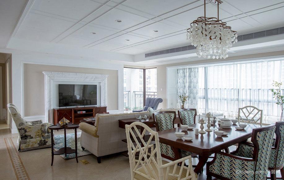 走进幸福天堂:混搭120平米酒店式婚房公寓装修效果图