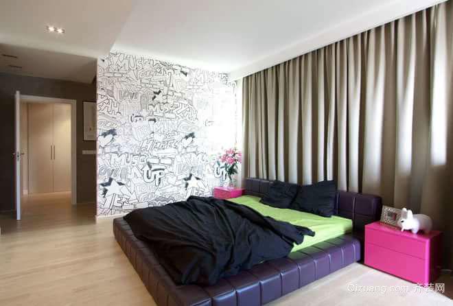 气质女神的新屋 后现代风格单身公寓装修效果图