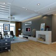 木质客厅地板砖装修