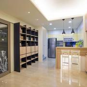 120平米房屋客厅吧台装饰