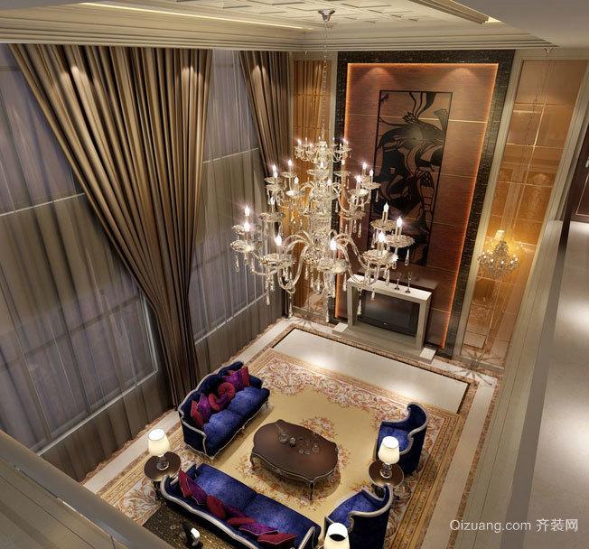 欧式客厅水晶吊灯装修效果图鉴赏