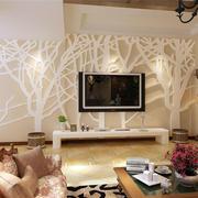 现代简约风格别墅电视背景墙装饰